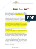 What Does Green Really Cost?