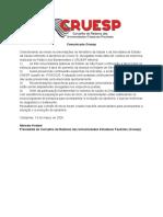 comunicadoCruesp_1332020