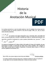 historia de la anotación musical