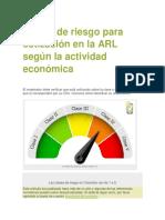 Clases de riesgo para cotización en la ARL según la actividad económica.pdf