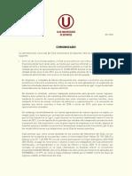 Comunicado Universitario 07 - 2020
