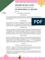 ACUERDO MINISTERIAL 3831 CALENDARIO ESCOLAR