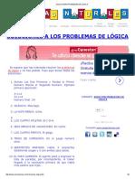 54 SOLUCIONES PROBLEMAS DE LOGICA