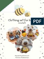 Clothing set for amigurumi bears