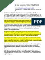 2020-03-04 CORONAVIRUS UN DISPOSITIVO POLÍTICO