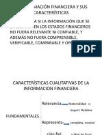 CARACTERÍSTICAS CUALITATIVAS DE LA INFORMACION FINANCIERA