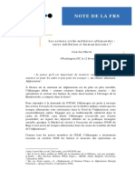 2007 - German Cimic in stabilization - Humanitarian and inhibition (French)
