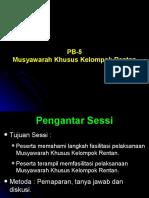 PB-5. Musyawarah Kelompok Rentan
