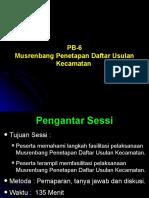 PB-6. Musrenbang Kecamatan