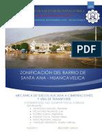 ZONIFICACIÓN BARRIO DE SANTA ANA - HUANCAVELICA