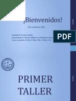 PPT - Primer Taller