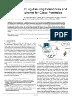CTJV803 CLASS Cloud Log Assuring Soundness and Secrecy Scheme for Cloud Forensics