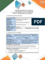 Guía de actividades y rúbrica de evaluación - Tarea 5 - Jurisprudencia en proyectos