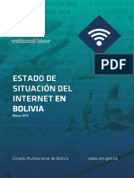 Estado de Situación del Internet en Bolivia Mar 26 2019