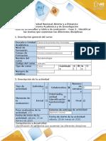 Guía de actividades y rúbrica de evaluación-Fase 2- Identificar las teorías que sustentan las diferentes disciplinas