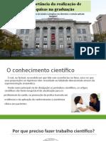 IMPORTANCIA DO TRABALHO CIENTIFICO
