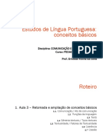 Estudos de Língua Portuguesa conceitos básicos