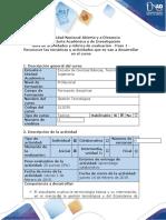 Guía de Actividades y Rúbrica de Evaluación. Paso 1 - Reconocer las temáticas y actividades que se van a desarrollar en el curso