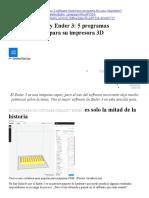5 programas imprescindibles para su impresora 3D