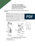measurement of tool wear