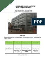 Plan de emergencia Comandancia 2015
