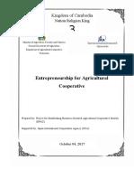Entrepreneurship for Agricultural Cooperative