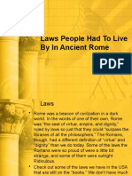 Laws People Had To Live By In Ancient Rome