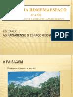 1 PAISAGENS E ESPAÇO GEOGRÁFICO