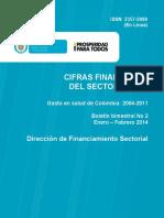Cifras financieras del Sector Salud 2014 - informe 2