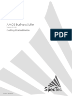 AMOS Business Suite Vrs. 10.1.00 Getting Started User Guide