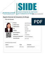 SIIDE (Sistema Integrado de Información de Evaluadores de Riesgo)