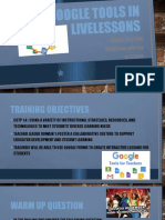 using google tools in livelessons