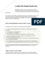 Family Courts Under the Family Courts Act