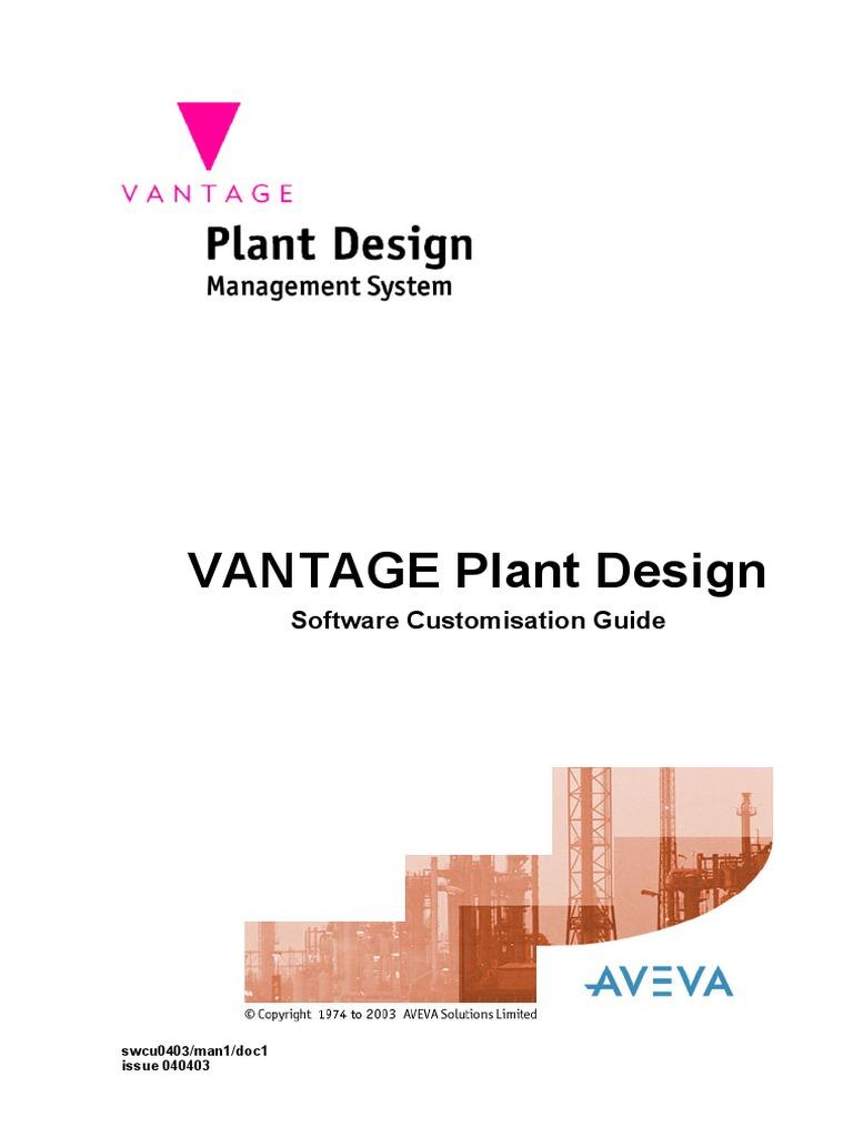 Vantage Plant Design Software Customisation Guide Method Computer Programming Array Data Type