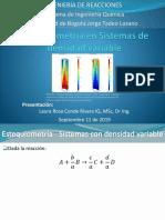 9. EstequiometrÍa en sistemas de densidad variable_2019-II