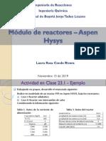 20. Módulo de Reactores - Aspen HYSYS_2019-II.pdf