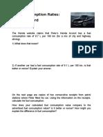 EDF5017 - Topic 3 - Fuel Consumption Rates Worksheet