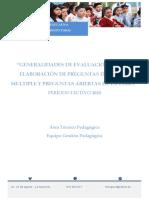 INSTRUCTIVO DE EVALUACIÓN PRUEBAS DE DIAGNÓSTICO