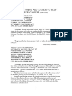 SAMPLE NOTICE AND  MOTION TO STAYFORECLOSURE