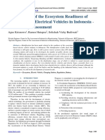 Identification of the Ecosystem Readiness of Battery Based Electrical Vehicles in Indonesia -Preliminary Assessment