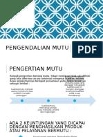3. PENGENDALIAN MUTU
