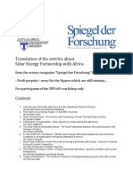 Solar Energy Partnership with Africa