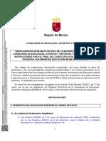 BORM Resolución Instrucciones final de curso 2018-19