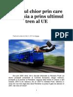 Norocul chior prin care RO a prins ultimul tren al UE