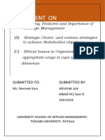 Advanced statistic management notes for MBA.