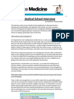 Insiders Guide to the Medical School Interview
