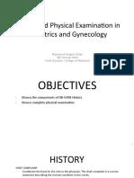 OBGyne History & PE Prenatal Parturition (Dolar)