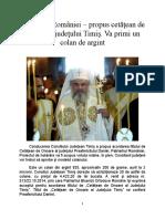 Patriarhul - propus cetatean de onoare al jud Timis