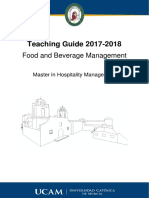 Modulo III_ Food and Beverage Management