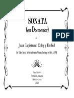 SONATA en Do Menor (Juan Capistrano Coley y Embid). Fernando Abaunza